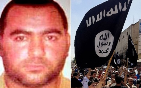 Isis demands all Muslims pledge obedience to its leader, Abu Bakr al-Baghdadi, left