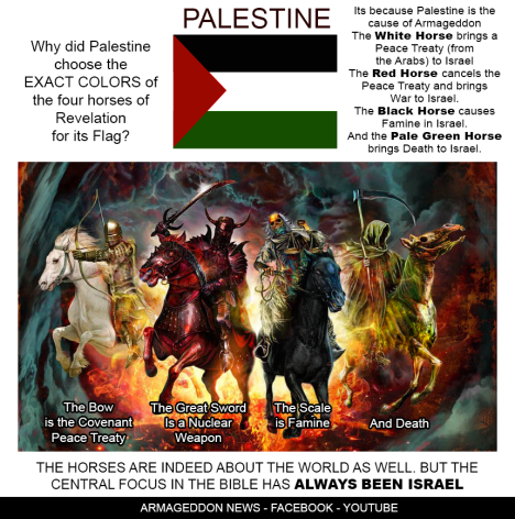 palestine and four apocylpes horses