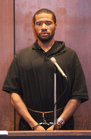 Ali Muhammad Brown pleads non guilty in the murder of Brendan Tevlin at the Essex County Court House in Newark, N.J., on Wednesday, August 6, 2014. (Frances Micklow/The Star-Ledger)