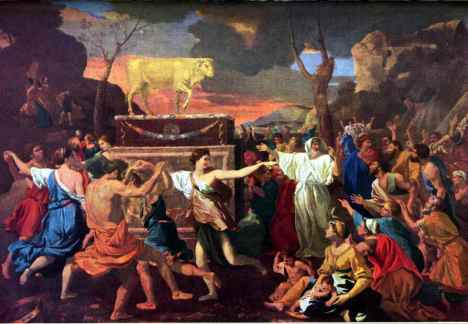 Moses ground up the golden calf and made idolaters eat it (Exodus 32:20).