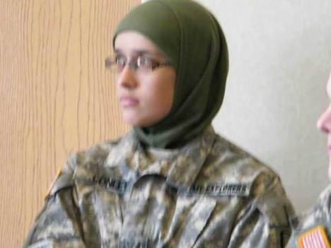 "Shannon ""Halima"" Conley during US Army Explorer training (Facebook)"