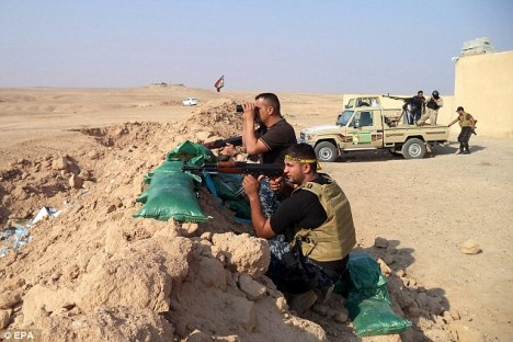 The combined forces have had several successes against ISIS forces who had taken over the area