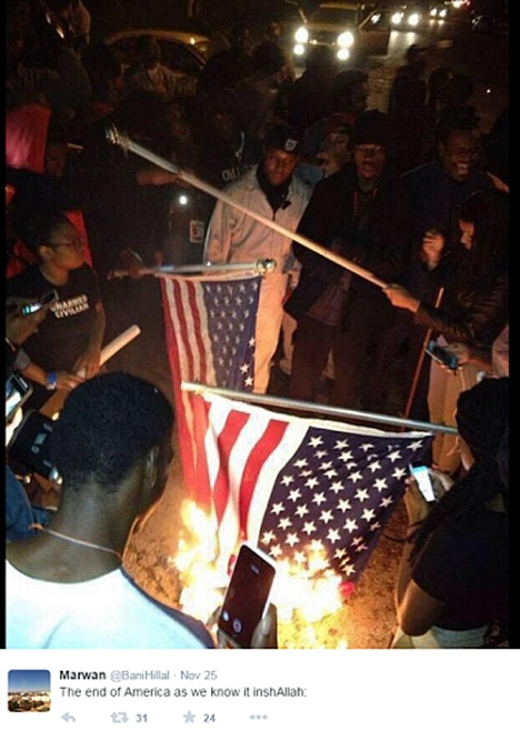 ISIS-Feruson-Flag-Burning-Tweet