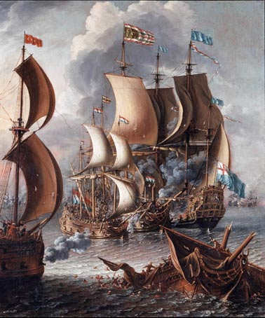 A Sea Fight with Barbary Corsairs, c. 1681.